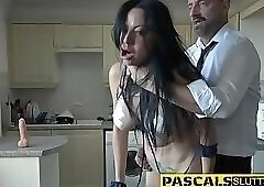 Bdsm slutt gets throated
