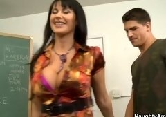 Handsome breasty French mom Eva Karera featuring cocksucking video