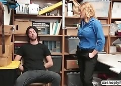 Krissy Lynn  gets have sex by a Shoplifter