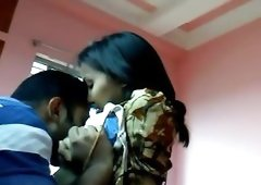 Sexy Indian babe in hot foreplay before sex