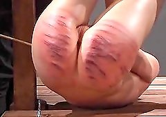Punishing a cute girl with a whip makes this mistress happy
