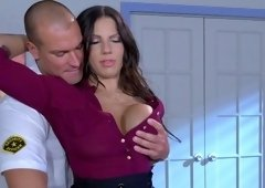 Busty woman got fucked in her office