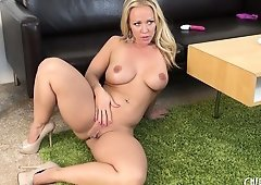 Austin Taylor licks her hands clean after she's done masturbating