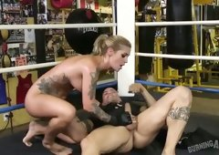 This blonde is a fearless fighter and she is sexually aggressive