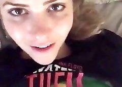 Mia Malkova teasing on bed