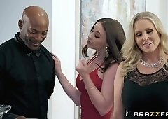 Beautiful blonde milf Julia Ann is having cunnilingus and fucking black guy