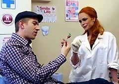 Dentist Ella Hughes fucks her patient