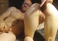 Sexy chick in stockings loves anal sex with her boyfriend
