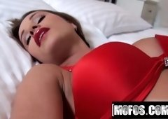 Red Lingerie and Black Floral Stockings video starring Ashle