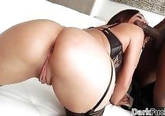 Wild interracial anal with Amara Romani