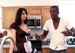 Hot maid turned into a whore