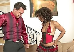 Ebony babe Misty Stone can't wait for him to cover her ass with sperm