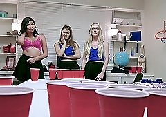 Jessica Rex and her friends play a game that turns into a hot orgy