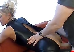 Hot blonde girl sucks the dick and rides it like a professional