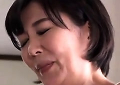 Mature Oriental wife takes a young cock deep in her snatch
