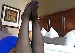 Chyna Sexy Pantyhose Soles