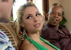 Horny pornstar Sarah Vandella in amazing voyeur, big tits sex video