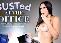 BUSTed at the Office featuring Rachel Starr