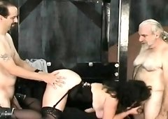Young awesome babe bizarre slavery