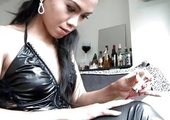 Humiliation From A Leather Clad Asian Mistress