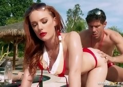 Dick sucking sex video featuring Dani Jensen and Mick Blue