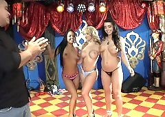 Three freaky ladies are ready to please some well hung dudes
