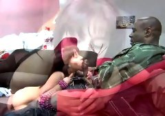 Busty white bitch with a fat butt gets fucked by a big black cock
