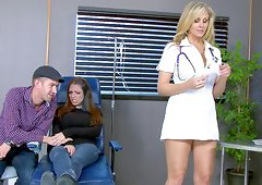 Best-looking nurse ever provides the guy with a stunning pussy