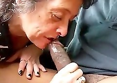 Anateurl granny gave her partner an awesome massive deep throat blowjob
