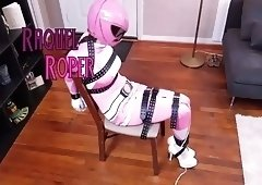 Raquel Roper Pink Power Ranger Bondage