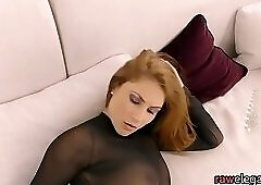 Sultry euro babe screams for anal fucking