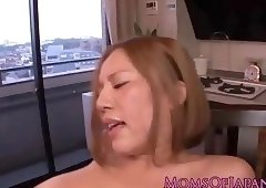 Busty japanese milf in stockings pussyfucked