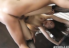 Inside a busty Japanese slut from behind