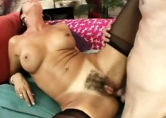 Mature slut in stockings Vanessa Videl loves ass-stretching procedures