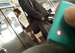Horny Japanese girl in Exotic Voyeur, Public JAV movie