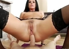 Gorgeous breasty India Summer is prepared for a nice throat fuck