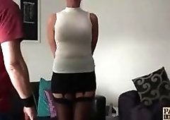 Mature BDSM loving bitch fucked roughly by a perverted guy