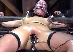 Tied up chick Elise Graves molested by female mistress BDSM