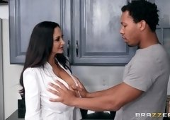Black guy gets to plow insatiable busty MILF Ava Addams