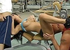 Harter Fick im Fitness-Studio