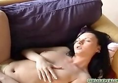 Hot shy masturbating
