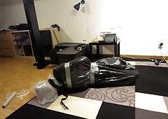 Trash bag bondage