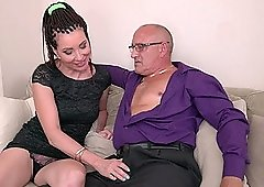 Riding a dick on the couch is enough to satisfy Sissy Neri