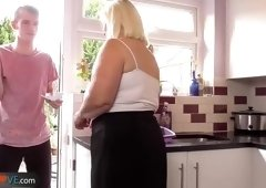 Pretty busty aged female featuring cocksucking video