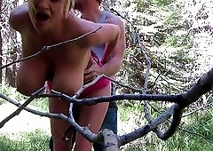 Fuck in a forest with cock craving blonde Kelly Madison