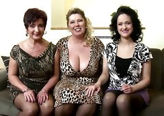 Three busty mature mothers VS young big cock