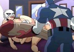 Captain America Fucks Evil Bitches