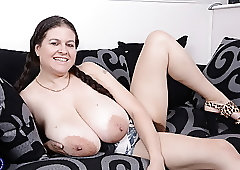 British big breasted mom and housewife Denise Davies with