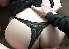Hot ass in lace thong