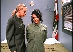 Awesome group sex with Aspen Reign and other chicks in uniform